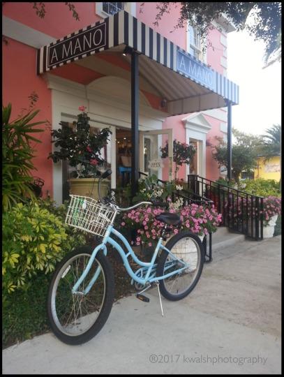 A Mano Blue Bike Blk Brdr